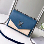 Mylockme Bb Schoolbag Shaped Shoulder Bag M51418 Blue/beige 2020 Collection