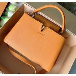 Taurillon Leather Capucines Pm Top Handle Bag M42259 Orange 2020 Collection