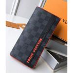 Men's Brazza Wallet N62665 Damier Graphite Canvas/orange