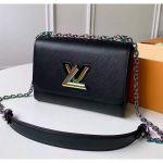 Epi Leather Twist Mm Shoulder Bag M50282 Black/rainbow 2020 Collection