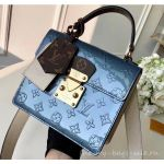 Monogram Vernis Patent Leather Spring Street Bag M90373 Bleu Jean 2019
