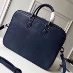 Men's Dandy Briefcase Top Handle Bag In Epi Leather M54405 Blue 2019 Collection