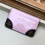 Venice Card Holder In Patent Leather M67639 Light Pink Collection