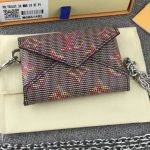 Monogram Lv Pop Kirigami Necklace Envelope Chain Pouch M68614 Red 2019 Collection