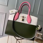 City Steamer Mm Bag In Smooth Calfskin M42188 Army Green/white/pink Collection