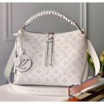 Mahina Perforated Calfskin Beaubourg Hobo Mm Bag M56201 White 2020 Collection