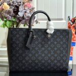 Men's Grand Sac Monogram Embroidered Tote M55185 Blue 2019 Collection