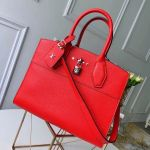 City Steamer Mm Bag In Grainy Calfskin M53014 Red/silver Collection