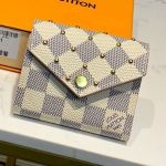 Damier Azur Canvas Studded Zoe Small Wallet N60251 2019 Collection