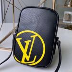 Men's Danube Pm Epi Leather Shoulder Bag M55120 Black/yellow 2019 Collection