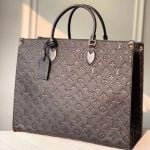 Onthego Monogram Embossed Leather Large Tote M44925 Black 2019 Collection