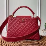 Capucines Pm Monogram Flower Top Handle Bag M55366 Burgundy 2019 Collection