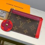 Monogram Canvas Flower Zipped Card Holder M67494 Burberrygundy 2019 Collection