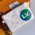 Men's Lv Logos Zipped Pochette Chaine Pouch Pm M67809 White 2019 Collection