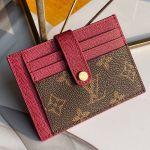 Monogram Canvas And Calfskin Porte Cartes Double Zipped Card Holder M66532 Fushia 2019 Collection
