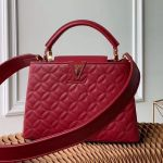 Capucines Bb Monogram Flower Top Handle Bag M55360 Burgundy 2019 Collection