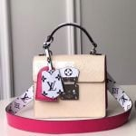 Spring Street Top Handle Bag In Creme White Vernis Leather M90454 2019 Collection
