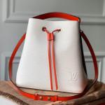 Neonoe Epi Leather Bucket Bag M55394 White/black 2019 Collection