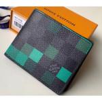 Damier Graphite Pixel Canvas Slender Wallet N60182 Green 2019