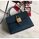 One Handle Flap Messenger Bag In Epi Leather M43129 Blue 2018