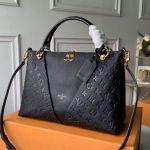 V Tote Mm Embossed Monogram Leather M44422 Black 2019 Collection