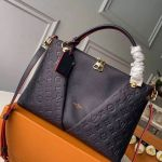 V Tote Mm Embossed Monogram Leather M44397 Navy Blue 2019 Collection