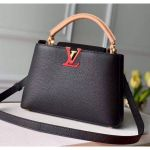 Taurillon Leather Capucines Bb Top Handle Bag M56409 Black/red/beige Collection