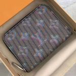 Lv Monogram Pop Zippy Coin Purse Wallet M68663 Blue 2019 Collection