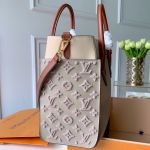 Monogram Tufting On My Side Tote Bag M53825 Gray 2019 Collection