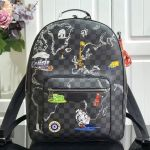 Men's Josh Damier Graphite Canvas Map Print Backpack N41473 2019 Collection