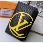 Epi Leather Bright-colored Lv Pocket Organizer Wallet M67904 Black 2019