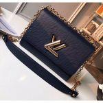 Epi Leather Twist Mm Shoulder Bag M50282 Navy Blue/gold 2020 Collection