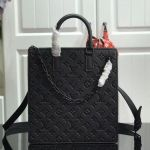 Men's Monogram Embossed Leather Runaway Tote Bag M44476 Black 2019 Collection