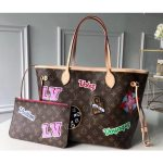 Monogram Canvas Neverfull Mm Tote Bag M43988 Patches 2018