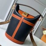 Bucket Shape Duffle Top Handle Bag M53842 Navy Blue 2019 Collection