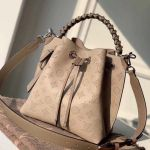 Muria Mahina Monogram Perforated Leather Bucket Bag M55799 Beige 2019 Collection