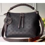 Braided Handle Mahina Leather Beaubourg Hobo Mm Bag M56073 Black 2020