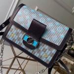 Dauphine Mm Monogram Pop Print Shoulder Bag M55452 Blue 2019 Collection