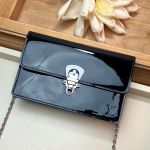 Cherrywood Woc Chain Wallet In Patent Leather M67793 Black 2019 Collection