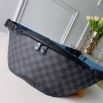Men's Discovery Damier Graphite Canvas Bumbag/belt Bag N40187 Black 2019 Collection