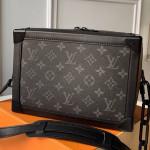 Monogram Canvas Soft Trunk Case Shoulder Bag M44478 Grey/black 2019 Collection