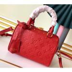 Monogram Empreinte Leather Speedy Bandouliere 20 Bag Red