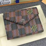 Damier Lv Pop Zoe Flap Wallet N60282 Red 2019 Collection