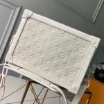 Monogram Empreinte Leather Soft Trunk Case Shoulder Bag M44478 White 2019 Collection