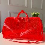 Monogram Pvc Keepall Bandouliere 50 M53271 Red 2019 Collection