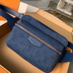 Monogram Denim Outdoor Bumbag/belt Bag M44741 Navy Blue 2019 Collection