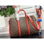 Monogram Canvas Soufflot Mm Open Top Handle Bag M44816 Red 2019 Collection