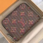 Lv Monogram Pop Zippy Coin Purse Wallet M68663 Red 2019 Collection