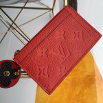 Monogram Empreinte Leather Flower Zipped Card Holder M68338 Red 2019 Collection