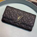 Capucines Bloom Lambskin Long Flap Wallet M68590 Black 2019 Collection